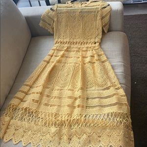 Yellow maje dress worn twice!